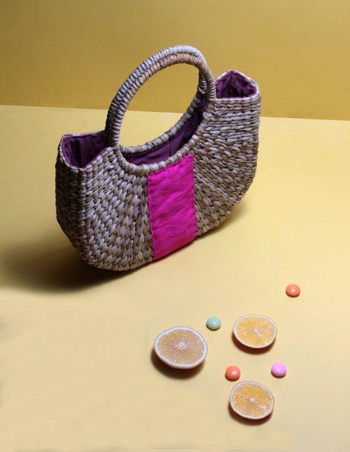 straw small handbag