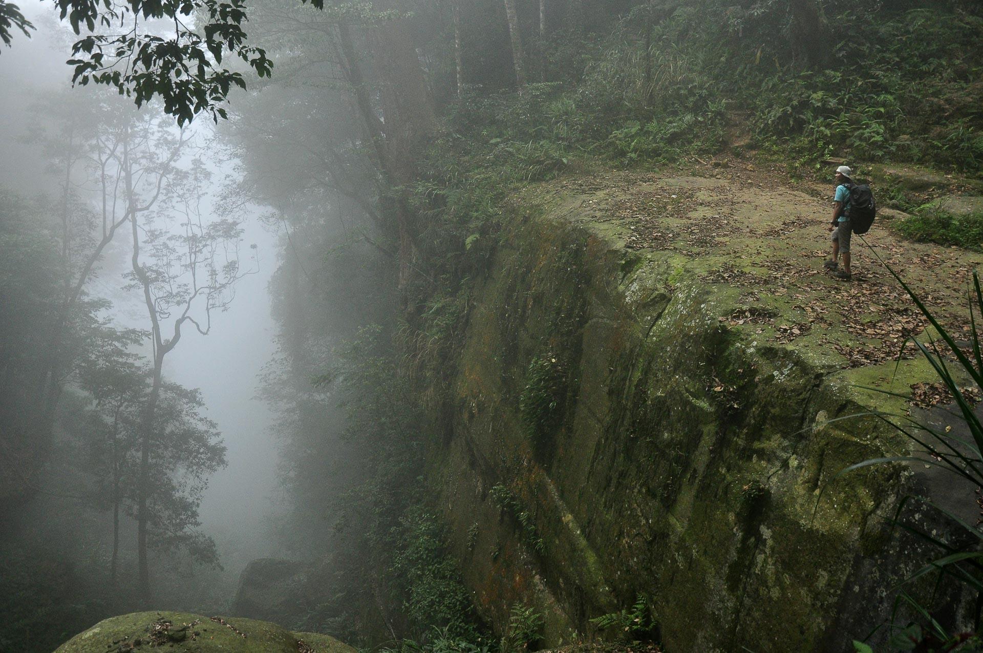 pěší turistika v horách Yunlin Taiwan