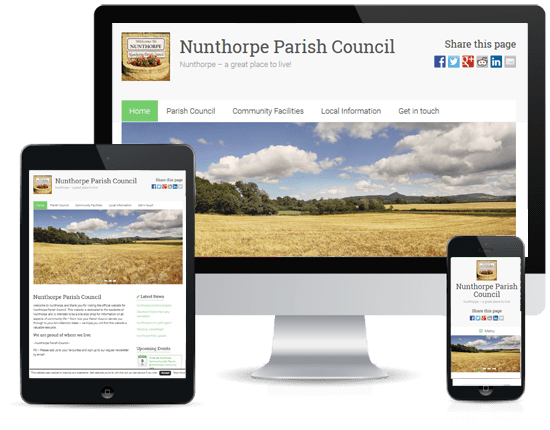 Web Design: Nunthorpe Parish Council