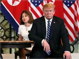 トランプ大統領の通訳の女性イヨンヒャンの顔画像
