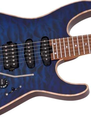 Charvel USA Select DK24 HSS 2PT CM QM – Blue Burst – Pre Order!