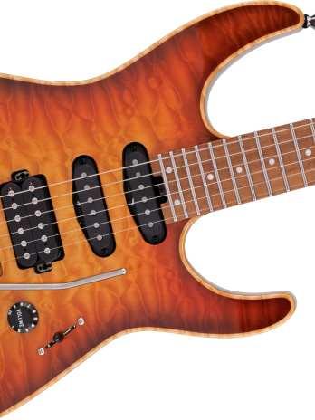 Charvel USA Select DK24 HSS 2PT CM QM – Autumn Glow – Pre Order!