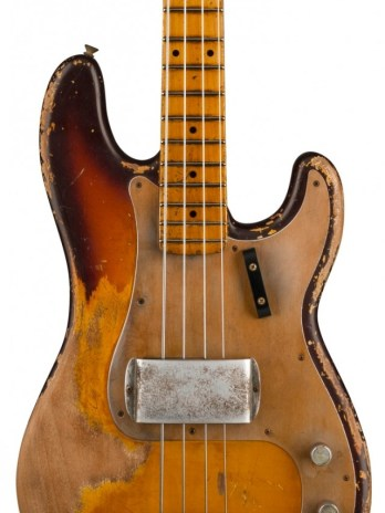 Fender Custom 1958 P Bass® Heavy Relic® – Masterbuilt by Vincent van Trigt – Faded Chocolate 3-Color