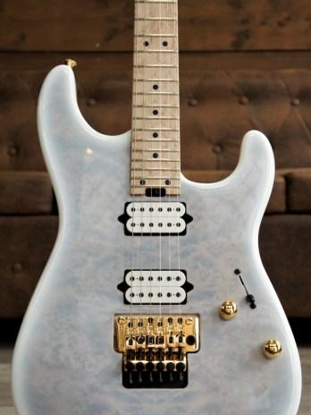 "Charvel Custom San Dimas SD24 Birdseye Top  – Trans White – Masterbuilt by ""Red"" Dave Nichols"