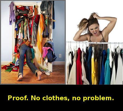 no clothes, no problem