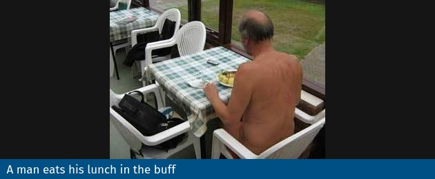 lunch in the buff