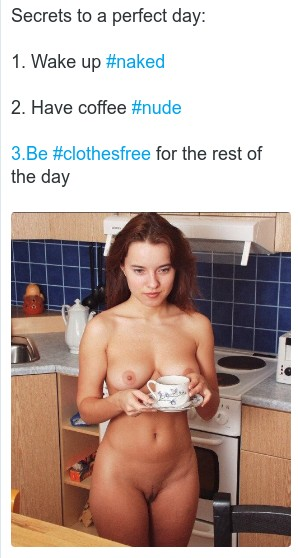tweet about a nude day