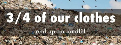 Clothes on landfill