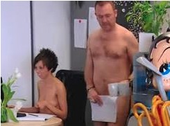 Nudist office