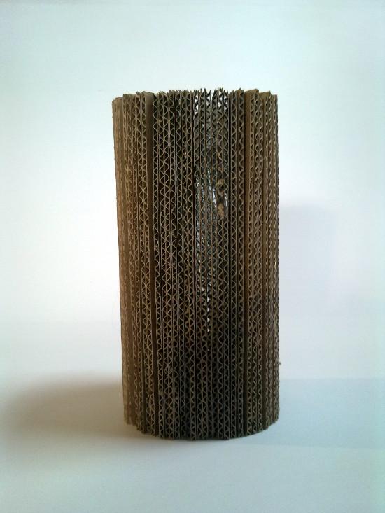 wazon-1 - z tektury, z kartonu