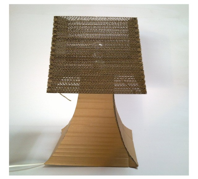 lampa-biurko-2 - z tektury, z kartonu