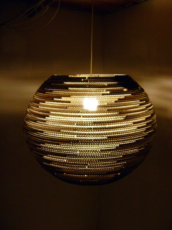 lampa-kula-60-14 - lampa z kartonu