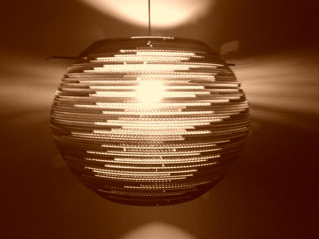 lampa-kula-60-3 - lampa z kartonu