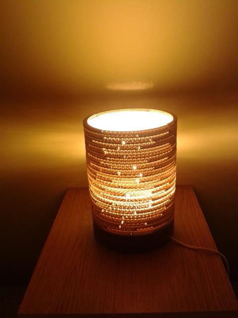 Lampa z kartonu okragla - 1