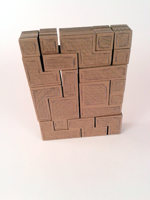 polka z tektury tetris - 2