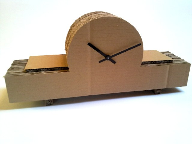 zegar-kominkowy-3 - cardboard clock