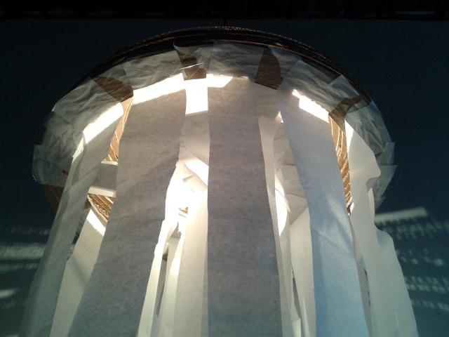 Lampa z tektury Meduza II - 4