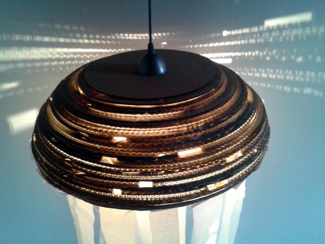 Lampa z tektury Meduza II - 5