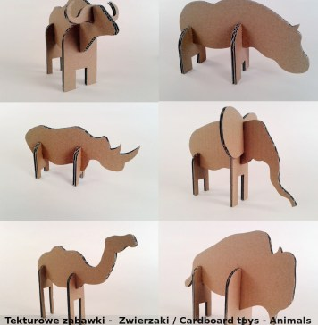Plakat zwierzaki z kartonu