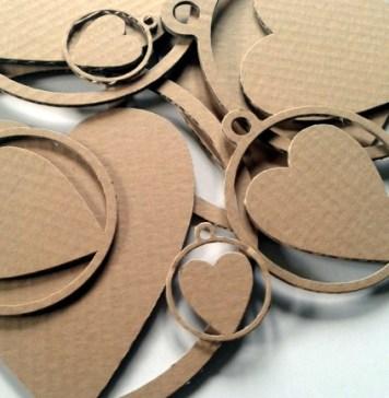 Serca z kartonu - 2