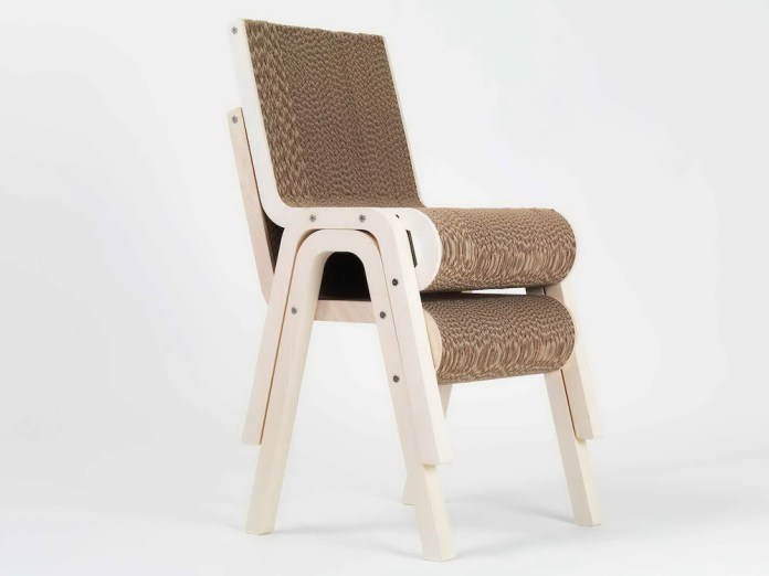 karton plus drewno stołek - 4