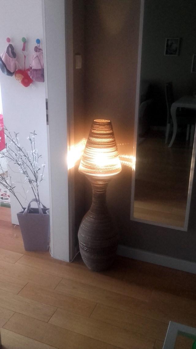 lampa z kartonu w domu - 4