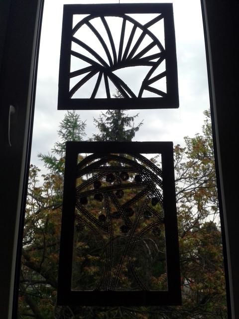 Ozdoby z kartonu na okna - 2