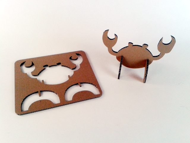 Kartonowe pływające zwierzaki  - Krab / Cardboard swimming toys  – crab