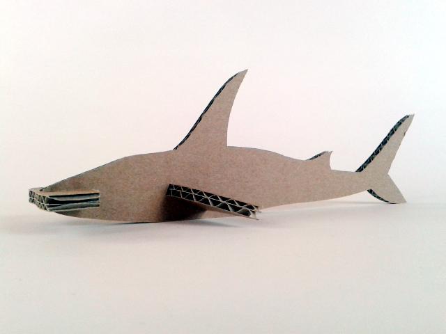 rekin z kartonu - 4