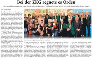 ZKG 2015 Ordensmartinee