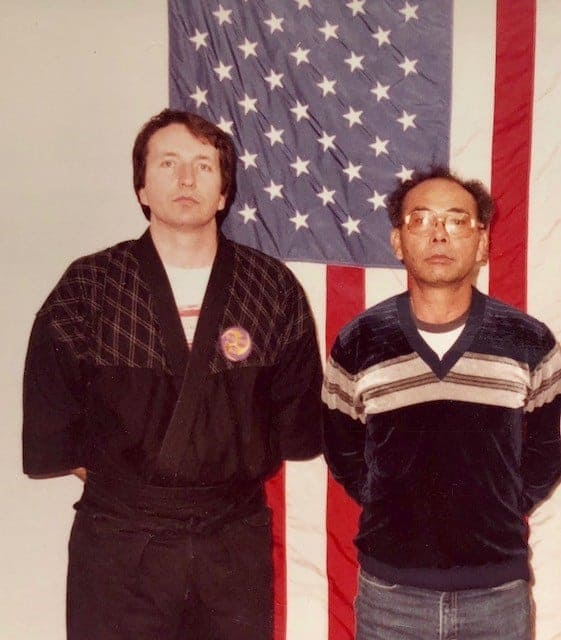 Taika and Tasshi with the US Flag