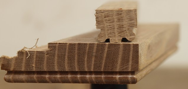 Some profiles in oak and elm; down grain, up grain and end grain
