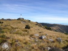 First clear view of the summit trig