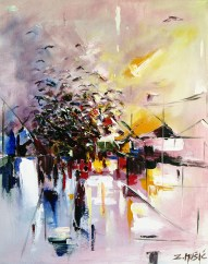 Birds, contemporary abstract art painting by artist Zlatko Music