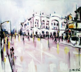 Banja Luka, contemporary art painting by Zlatko Music