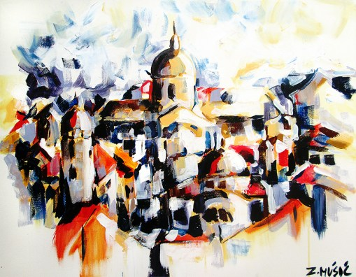 Dubrovnik, contemporary art painting by Zlatko Music