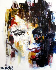 Portrait of her, art painting by artist Zlatko Music