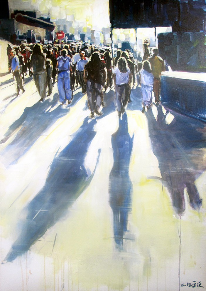 Shadows passing by, contemporary art painting by Zlatko Music