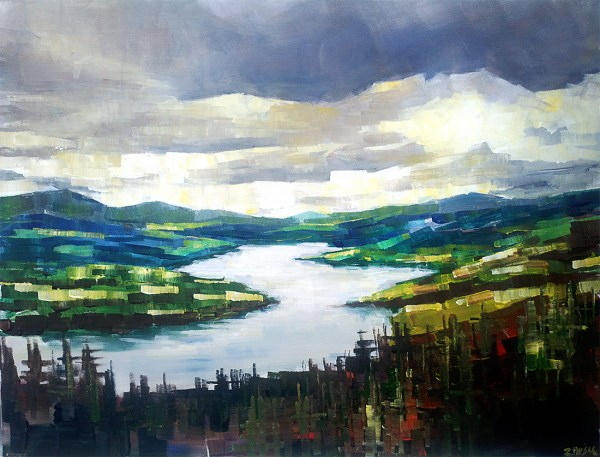 Fine Art Landscape Abstract Painting