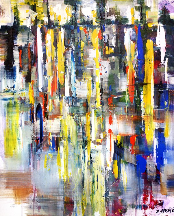 abstract expressionism art painting, modern art Zlatko Music