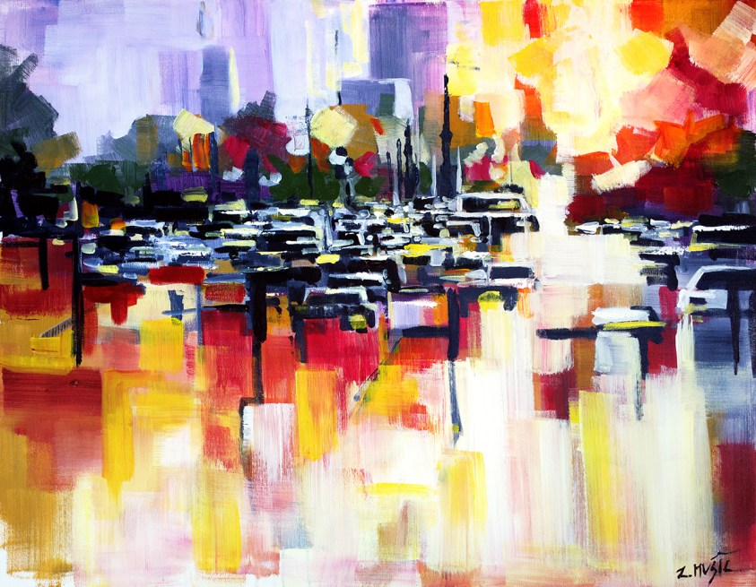 contemporary abstract fine art painting by artist Zlatko Music