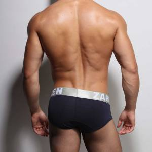Navy brief, from backside.