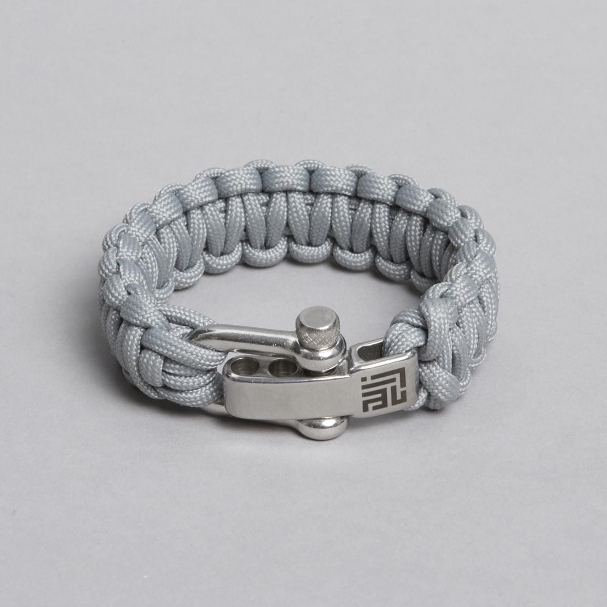 grå paracord armbånd