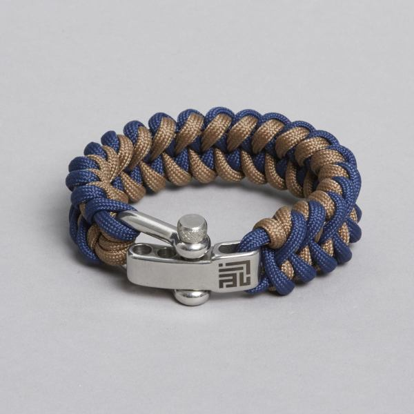 Navy Beige Paracord by ZLC