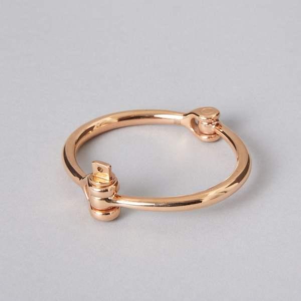 Rose gold cuff bracelet stainless steel by ZLCOPENHAGEN Danish Design