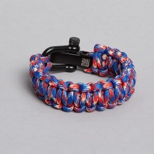 blue red white paracord bracelet by zlcopenhagen