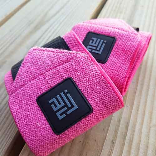 Pink Wrist Wraps by ZLCOPENHAGEN_Recycled Danish Design