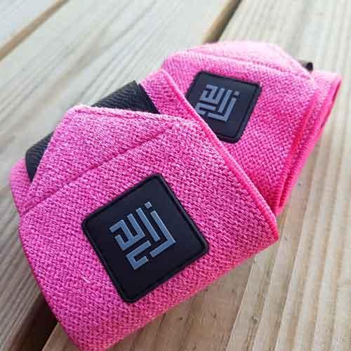 Pink Wrist Wraps by ZLCOPENHAGEN_Recycled Danish Design