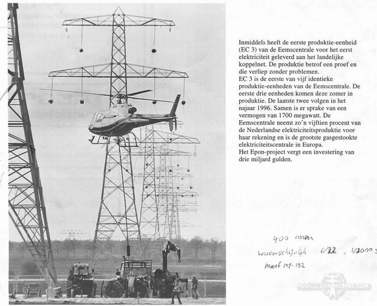 Inhangen van gidslijnen met een helikopter