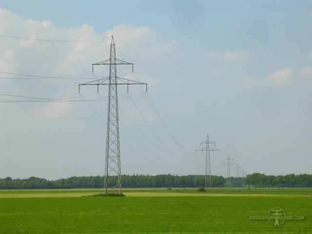 Oude lijn naar Zwinderen, inmiddels gesloopt